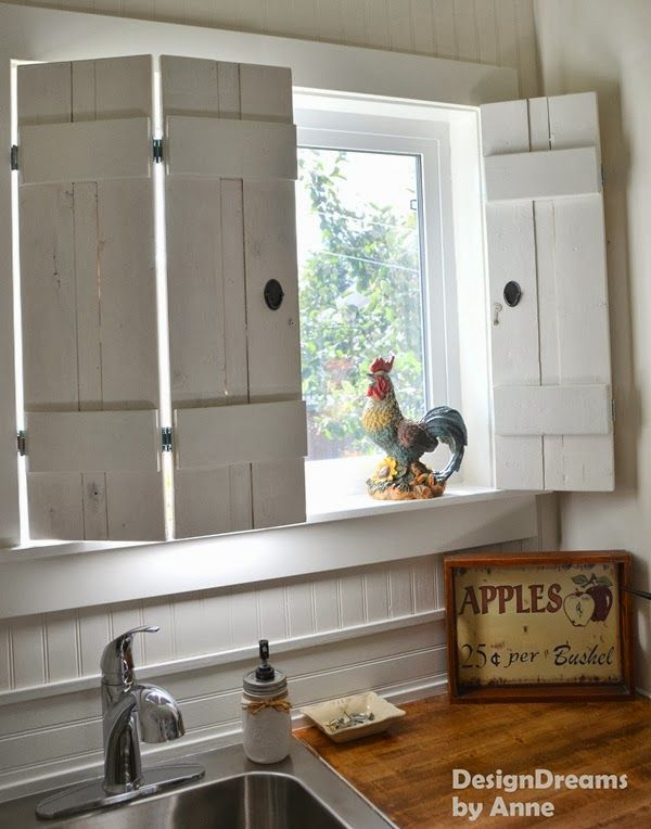DIY Rustic Shutters for $10 from Design Dreams by Anne | Indoor .