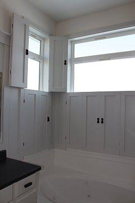 Amy's Casablanca: Master Bath Transformation | Interior shutters .