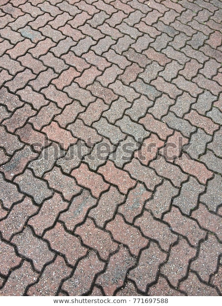 Interlocking Brick Pavers Stock Photo (Edit Now) 7716975