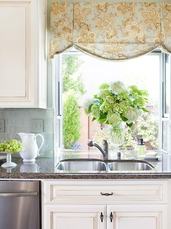 The Ultimate Guide to Window Treatments | Kitchen window valances .