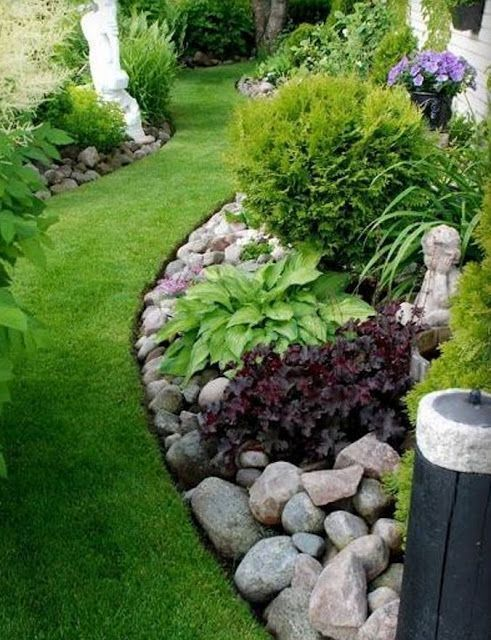 30 Beautiful Backyard Landscaping Design Ideas | Rock garden .