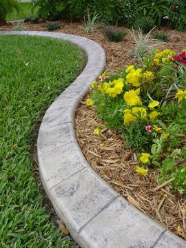 Garden Edging Supplies | Concrete garden edging, Garden edging .