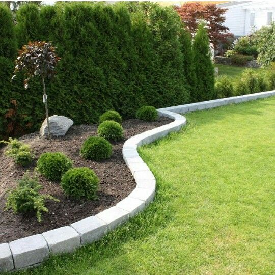 Edging landscape | Landscape edging, Brick landscape edging, Front .