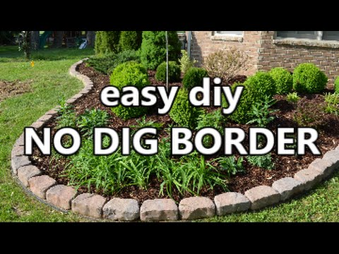 easy diy No Dig Border - YouTu