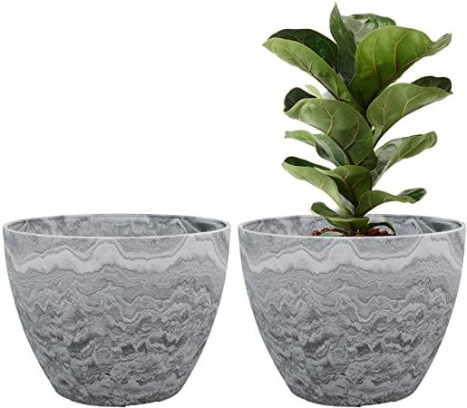 Amazon.com : LA JOLIE MUSE Flower Pot Large Garden Planters 11.3 .