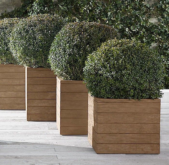 10 Easy Pieces: Square Wooden Garden Planters - Gardenista | Large .