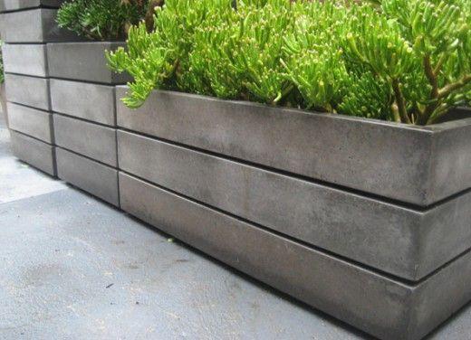 Modern Container Garden Ideas | Concrete garden, Concrete planters .