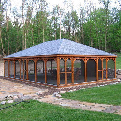 Large Wood Gazebos | Country Lane Gazebos | Large gazebo, Backyard .