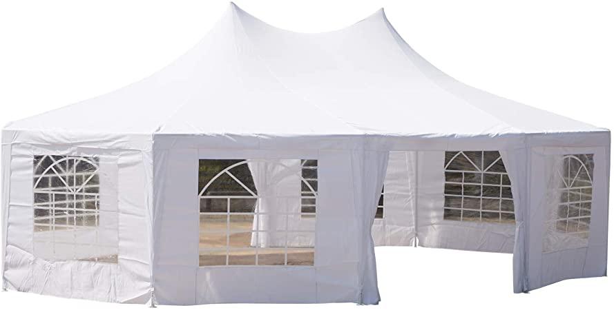 Amazon.com : Outsunny 29'x20' Large 10-Wall Event Wedding Gazebo .