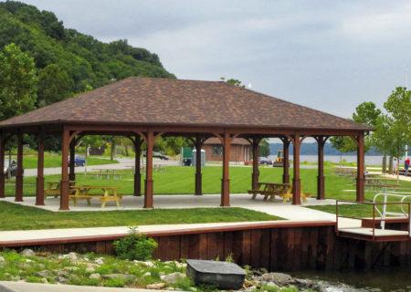 Large Wood Pavilions - Creative Gazeb