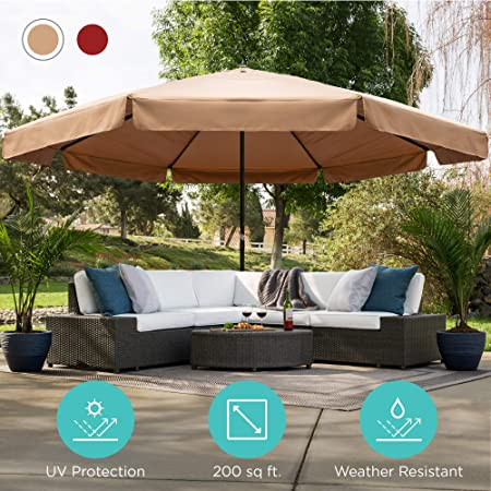 Amazon.com : Best Choice Products 16ft Extra Large Outdoor Patio .