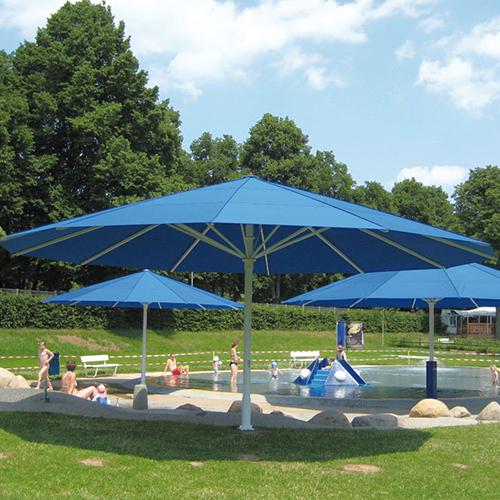 Giant: Extra large Patio Umbrellas ( Type TL / TLX ) - CADdetai