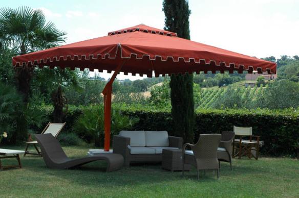 large patio umbrellas   Poggesi garden & patio umbrell