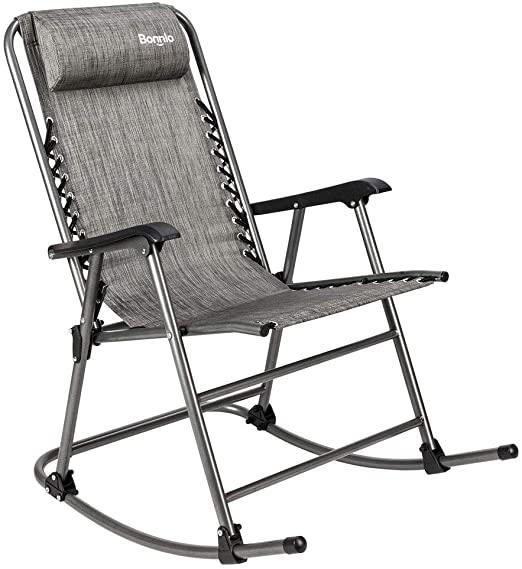 Amazon.com: Bonnlo Zero Gravity Rocking Chair Patio Lawn Chair .