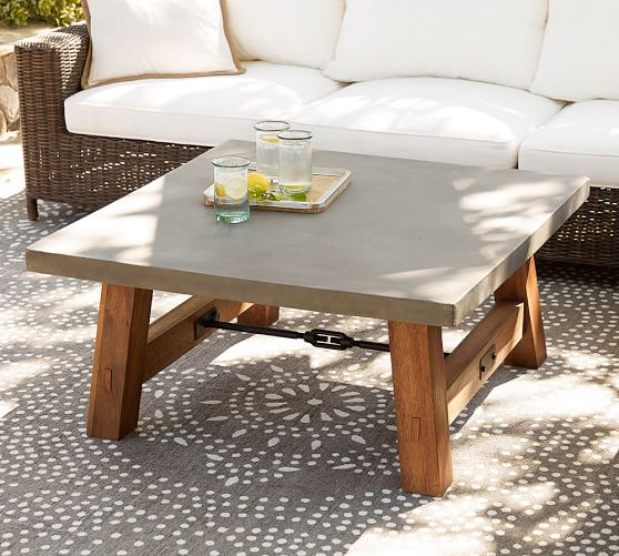 Place stylish and light weighted outdoor coffee table in outdoor .