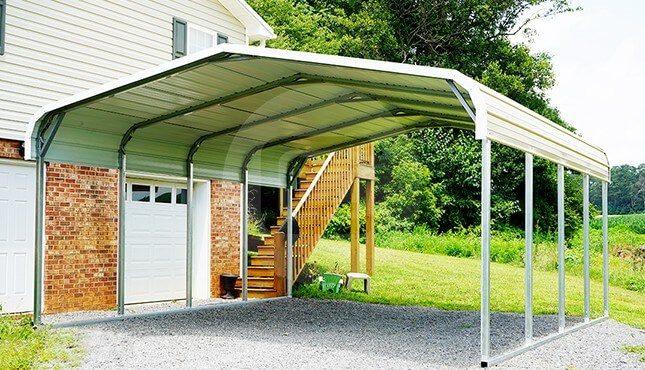 18x21 Regular Roof Steel Carport | 18x21 Metal Carport Pric