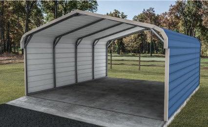 18x21x7 Regular Roof Carport | Metalcarports.c