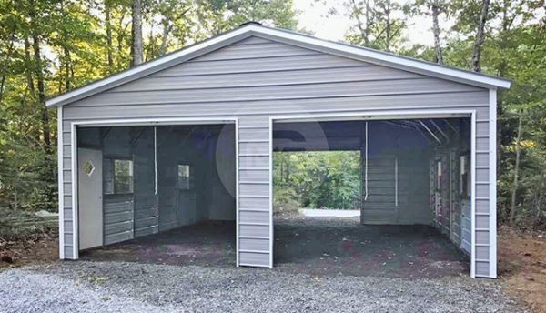 24x30 Enclosed Steel Garage | 24x30 Metal Gara