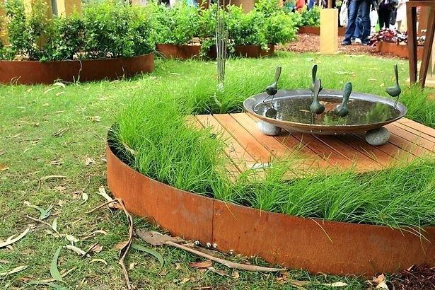 China Corten Steel Metal Garden Edging For Landscaping .