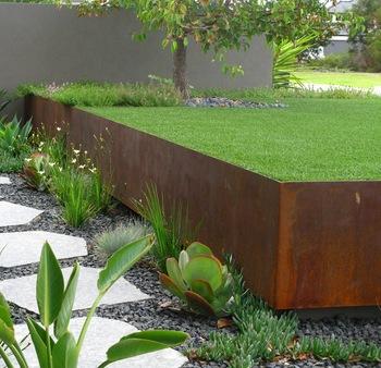 Corten Steel Garden Lawn Edging/Metal Border Edging, View Metal .
