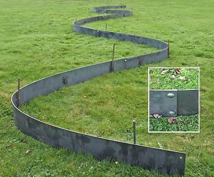 Customized Landscaping Metal Garden Edging Grass Border .