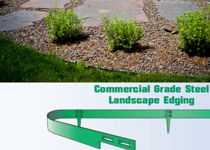 Metal Lawn Edging - Hoot Landscape and Design - Fort Way