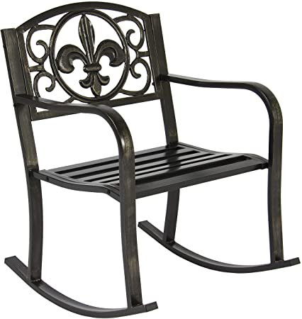 Amazon.com : Best Choice Products Metal Outdoor Rocking Chair Seat .
