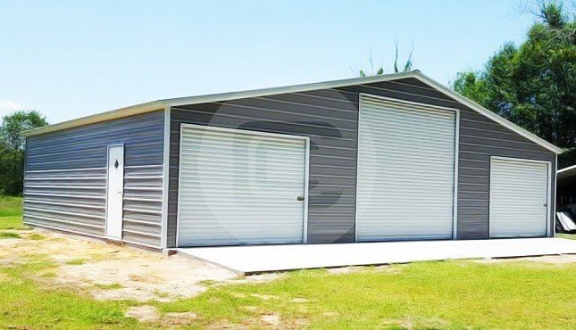48x30 Steel Barn Building | farm equipment storage buildin