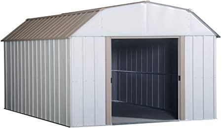 Amazon.com : Arrow LX1014 10 x 14 ft. Barn Style Galvanized Taupe .