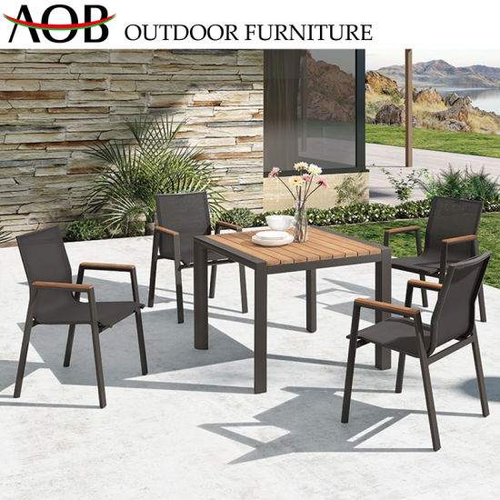 China Modern Outdoor Leisure Aluminum Restaurant Set Garden .