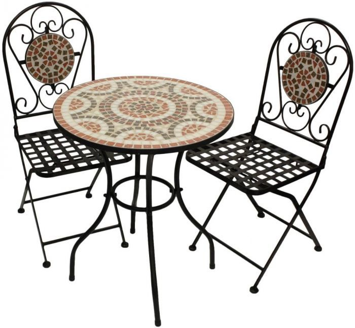 Woodside Mosaic Garden Table And Chair Set in 2020 | Small garden .