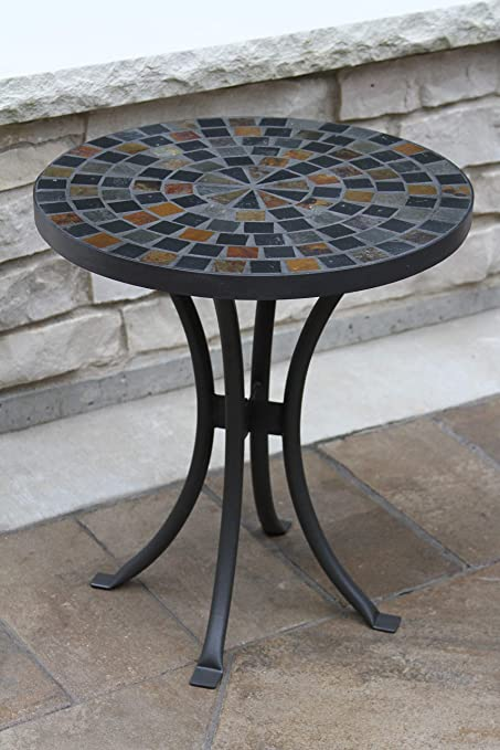 Amazon.com : Outdoor Interiors LLC 31625 Mosaic Side Table, 18 .