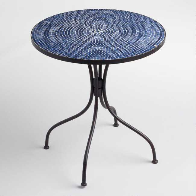 Peacoat Blue Cadiz Outdoor Bistro Table | World Mark
