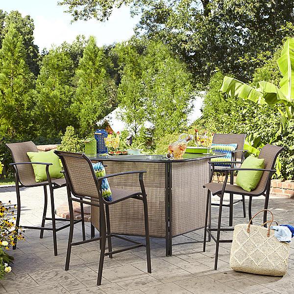 Garden Oasis SS-I-139NBSET Harrison 5 pc. Outdoor Bar Set | Sears .