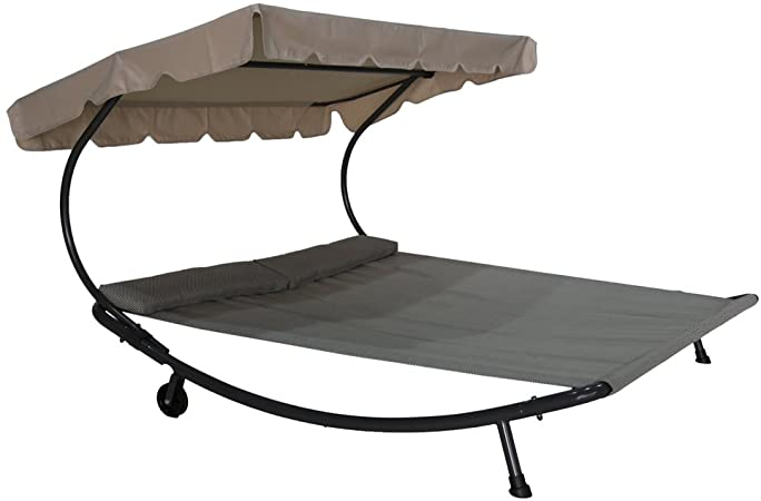 Amazon.com : Abba Patio Outdoor Portable Double Chaise Lounge .