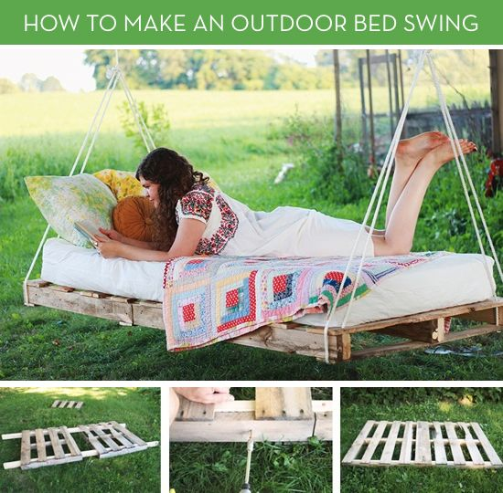 Move Over Hammocks: How to Make an Outdoor Bed Swing | Curb