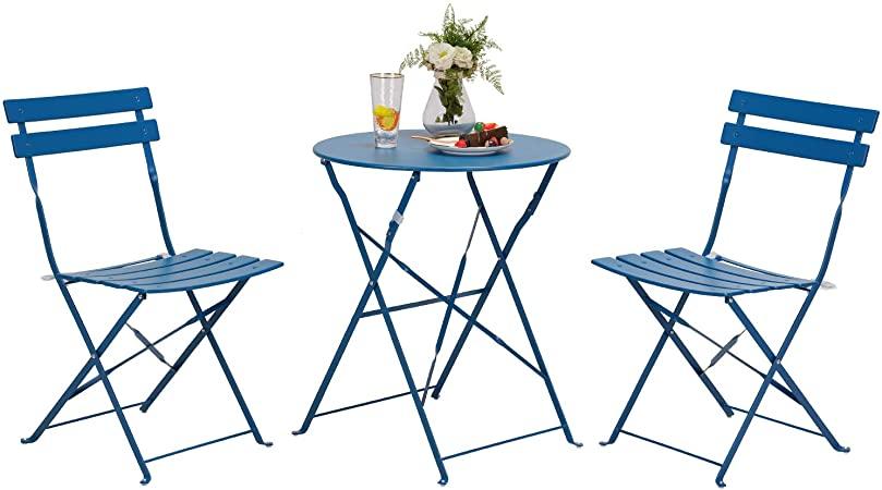 Amazon.com : Grand patio Premium Steel Patio Bistro Set, Folding .