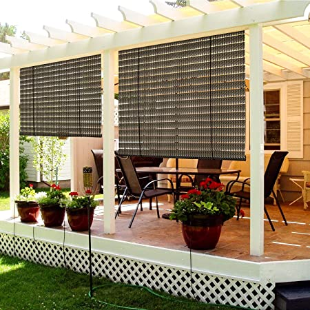 Amazon.com: TANG Exterior Roller Shade Roll up Shade for Patio .