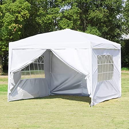 Amazon.com : Canopy Tent-10x10 White Pop Up Canopy Outdoor Gazebo .