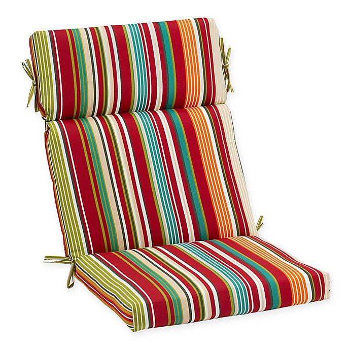 Stripe Outdoor High Back Chair Cushion | Bed Bath & Beyo