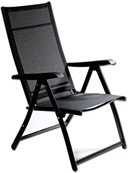 Amazon.com: Heavy Duty Durable Adjustable Reclining Folding Chair .