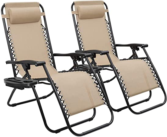Amazon.com : Devoko Patio Zero Gravity Chair Outdoor Folding .