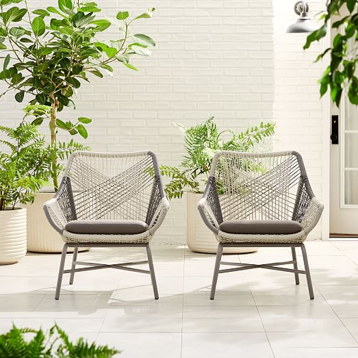 Huron Outdoor Lounge Chair & Cushi