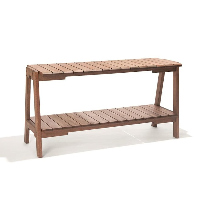 Alaterre Furniture Otero Rectangle Outdoor Console Table 18-in W x .