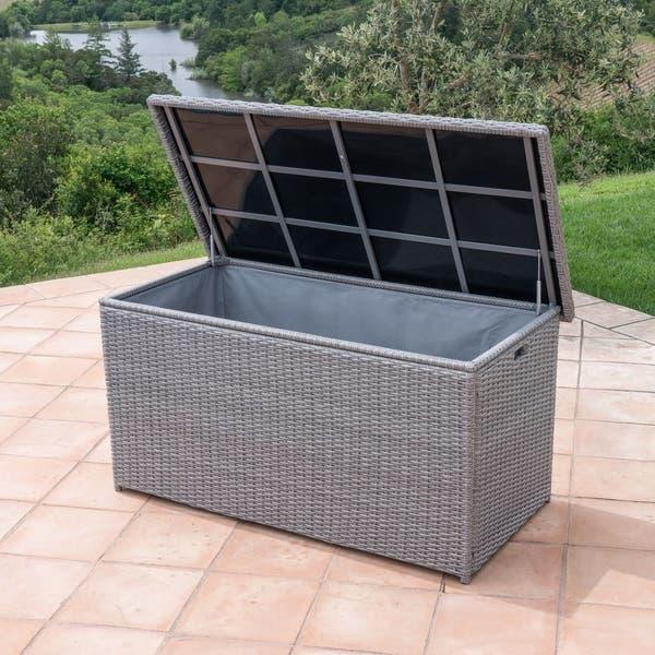Shop Corvus Lattice Outdoor Cushion Storage Box - Overstock - 81214