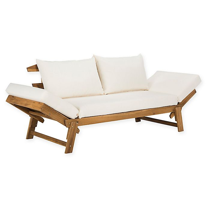 Safavieh Tandra Wood Outdoor Daybed | Bed Bath & Beyo