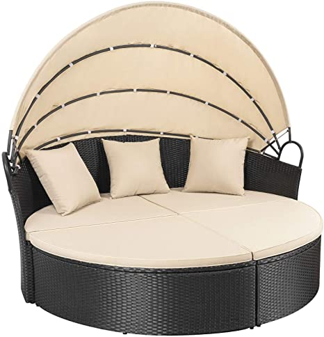 Amazon.com : Homall Patio Furniture Outdoor Daybed with .