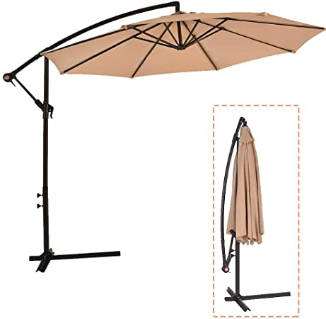 Amazon.com : Patio Umbrella Cantilever Umbrella Offset Umbrella .