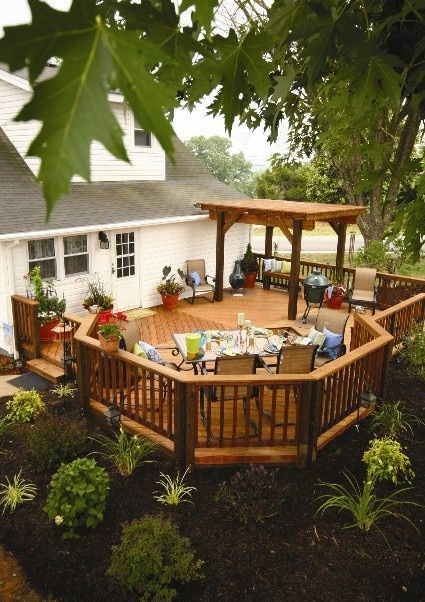 9 New Deck Ideas | Patio deck designs, Decks backyard, Deck .