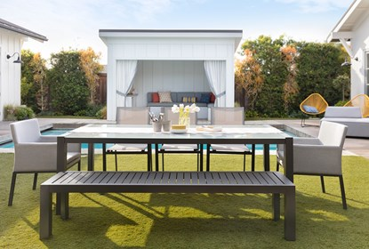 Ravelo Outdoor Dining Table | Living Spac